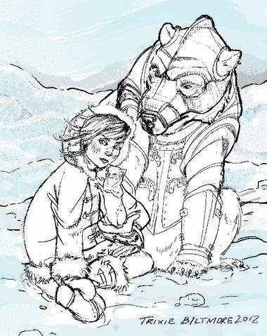 Work In Progress: The Golden Compass – Lyra, Pan, and Iorik the Armored Bear